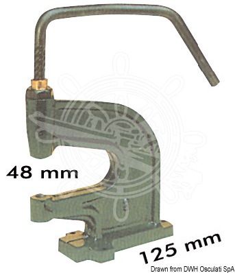 Deck press for snap fasteners 10.301.XX/10.303.XX