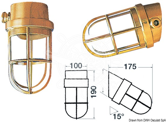 Solid-brass lamps