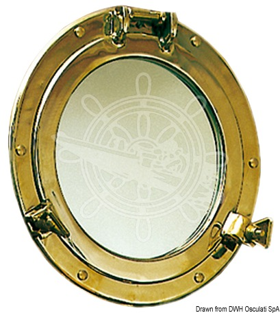 Decorative porthole mirror