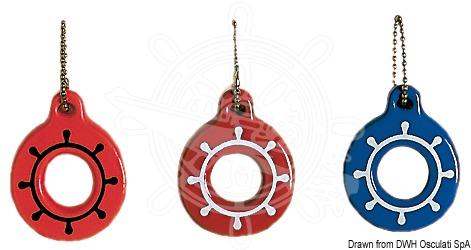 Soft foam steering wheel key ring