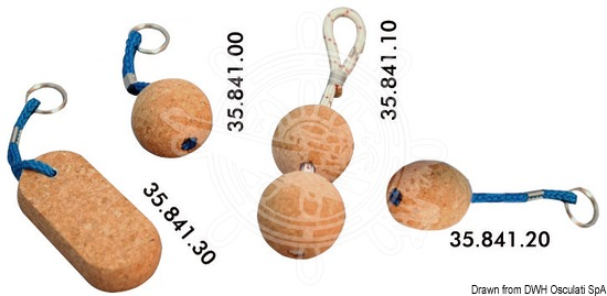Floating key-chains with floating cork