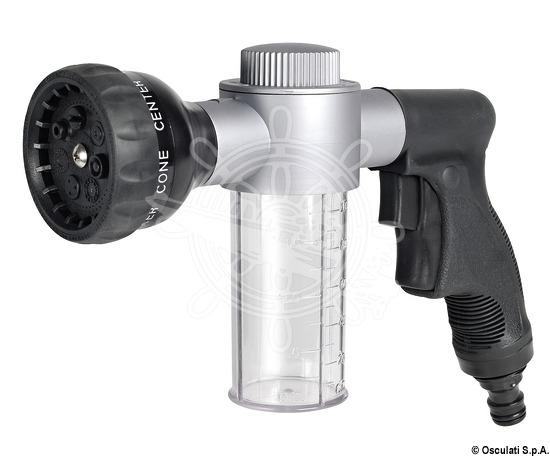 Spray hose with 7 jet types