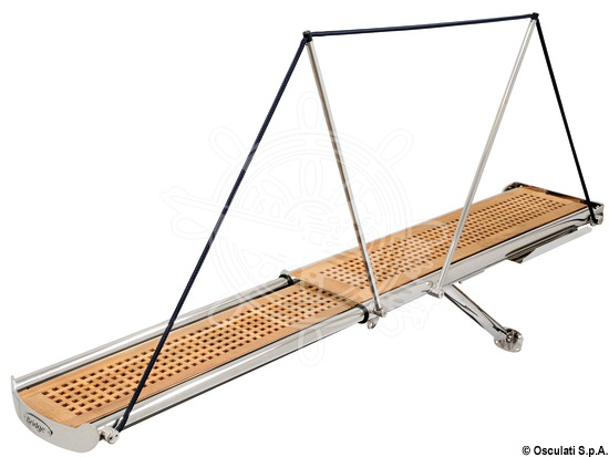 BRIDGE telescopic hydraulic gangways with mirror-polished AISI 316 stainless steel structure