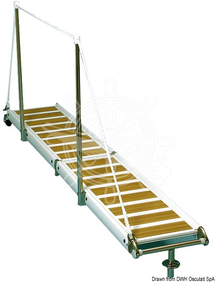 Foldable gangway