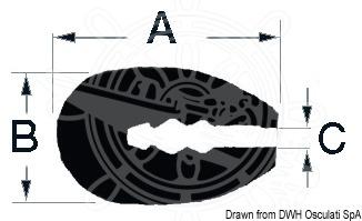 Profile designed for trimming reinforced fiberglass, wood or metal