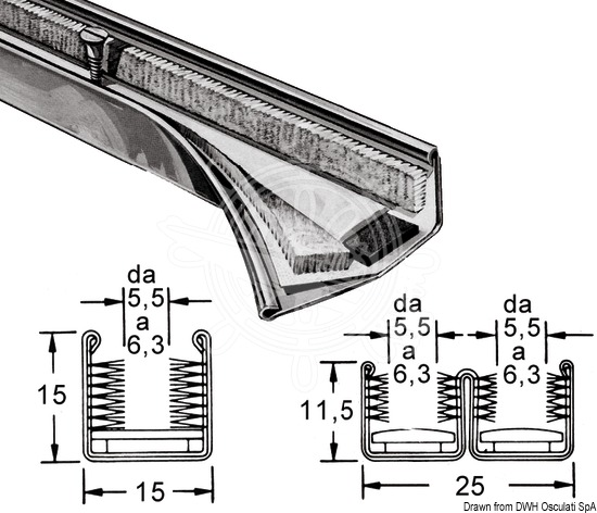 STAND-PRO watertight guide profiles for sliding glass panes