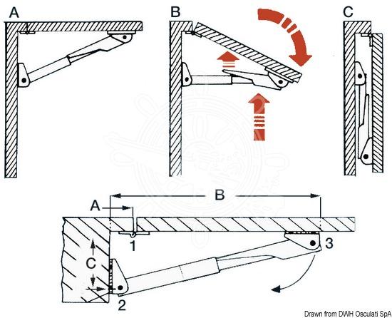 Pedestals for Rakego foldable tables