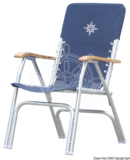 Foldable aluminium chair