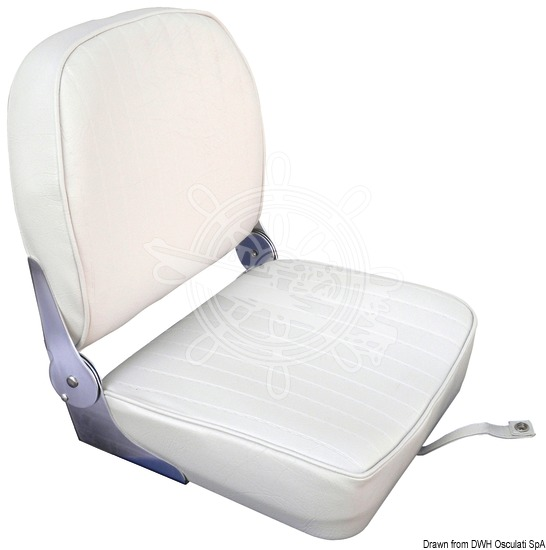 Seat with foldable back