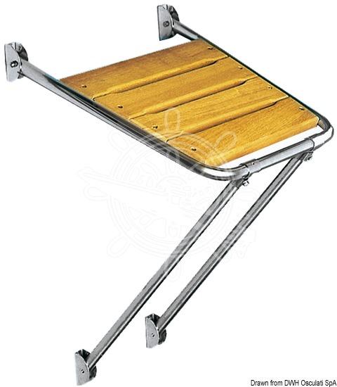 Side platform with foldable ladder