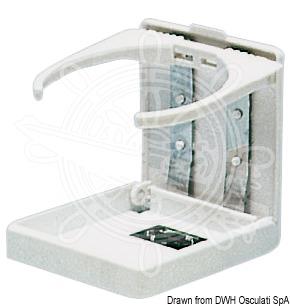 Foldable plastic glass holders
