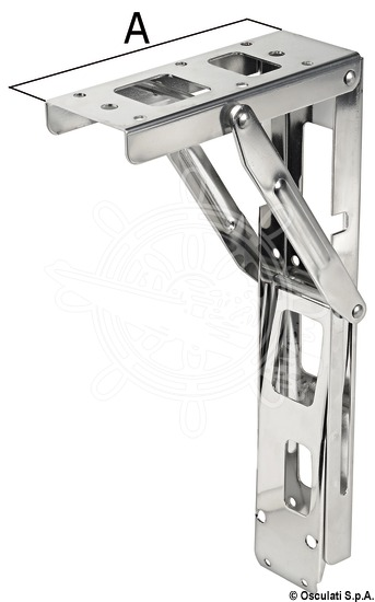 Folding arm for tables or seats