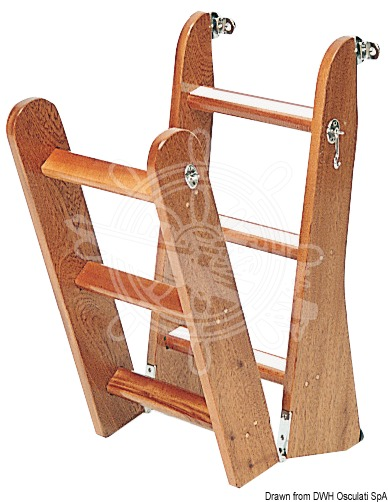 Ladder made of mahogany wood