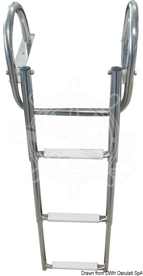 Gangplank telescopic ladder with handles