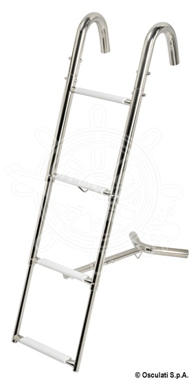 Bow telescopic ladder