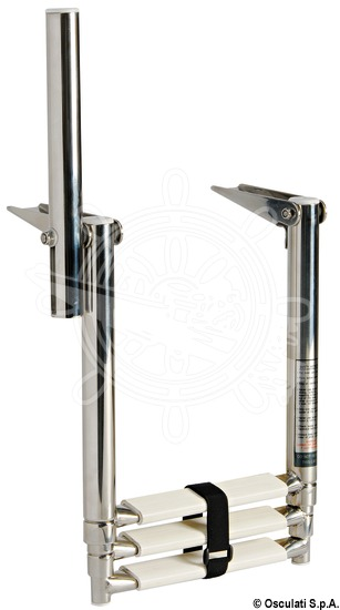 Gangplank telescopic ladders with grip handle
