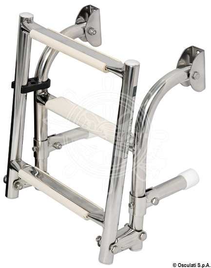 Foldable ladders wall-mounting