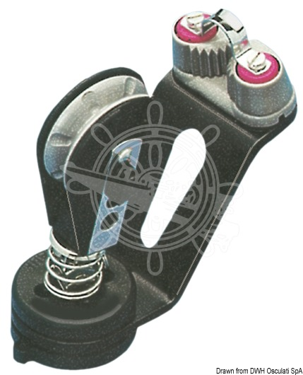 Cam cleat swivel base with block