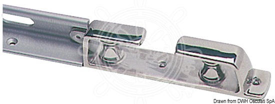 Terminal fairlead with rollers for Toerail 62.410.01
