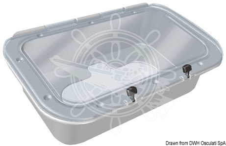 Watertight container with clear cover