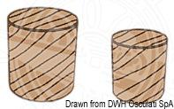 "Wooden ""Teak"" plugs"