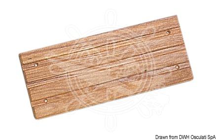 Bordered footboard