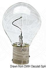 Vertical filament bulb, offset poles