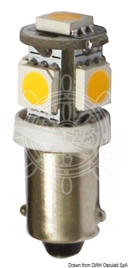 LED bulb for lights, courtesy lights and navigation lights, BA9S screw