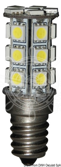 LED SMD light bulb with E14 connection