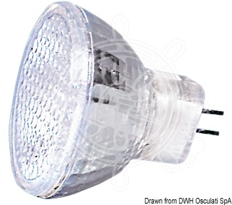 Halogen bulbs with dichroic reflector, G4 connection