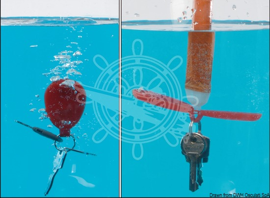 Patented floating key ring