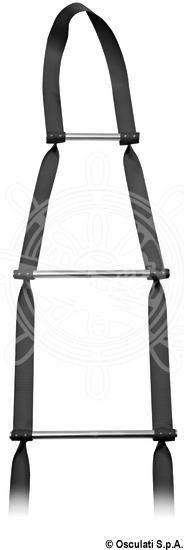 Anti-torsion ladder for mast climbing