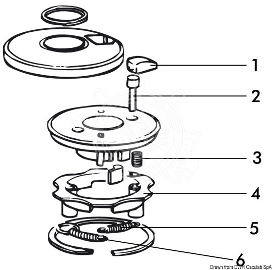 Spare parts for 3-speed winches