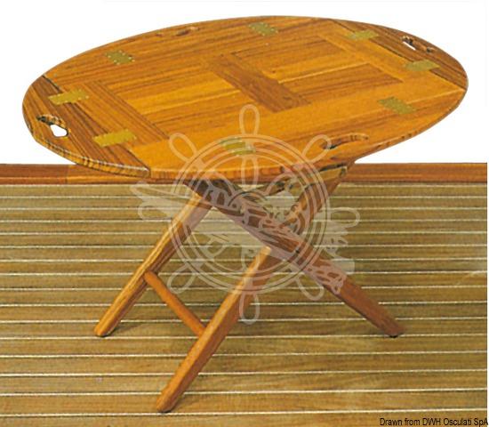 Removable teak table