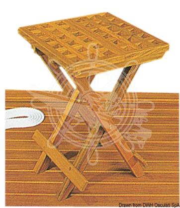 Foldable teak stool