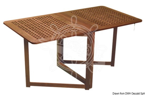 Foldable table with hinged legs