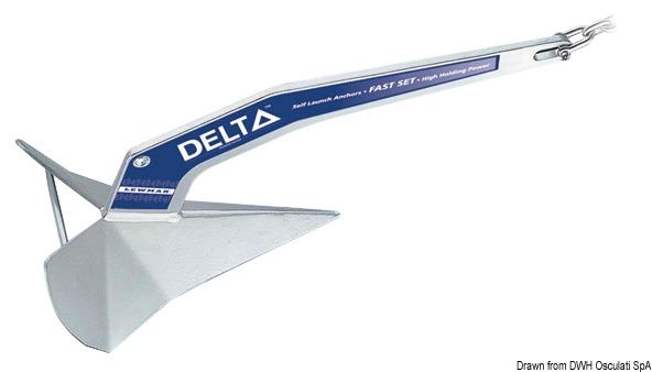 LEWMAR Delta® zinc-plated steel anchor