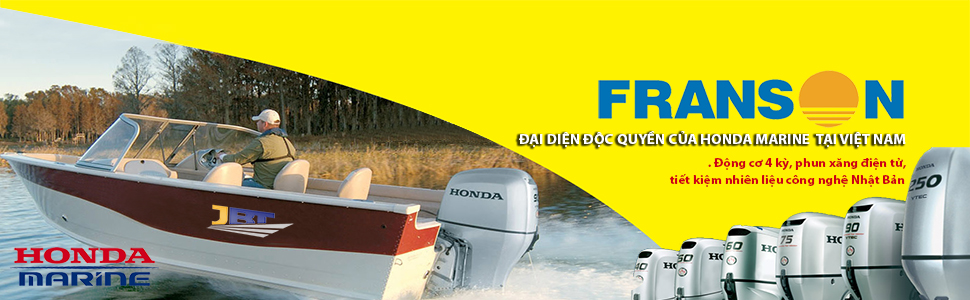 Franson là đại diện độc quyền cho Honda Marine tại Việt Nam